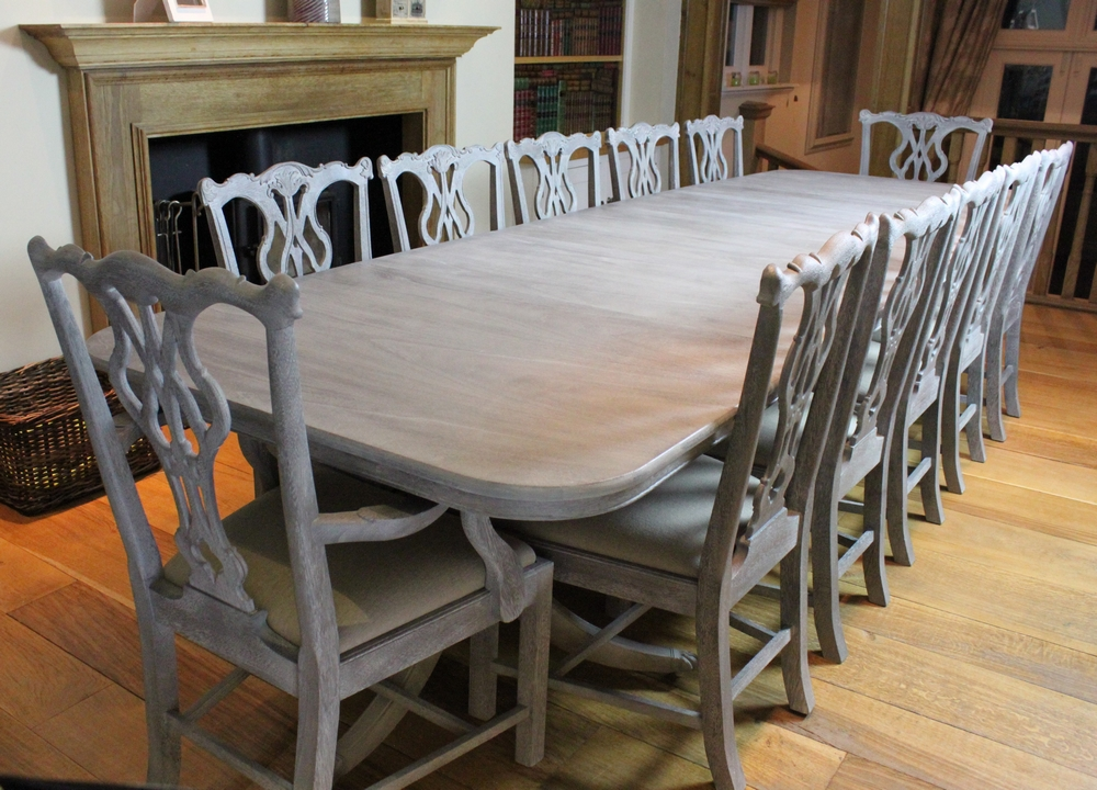 Dining Table And 12 Chairs ...